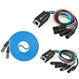 LyxPro 4-Channel XLR to Single Ethercon 25' Cat6 Cable Multi Network Snake for Stage & Recording Studio AES & DMX Channels