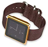 iPod Nano Watch Strap - Brown Nylon
