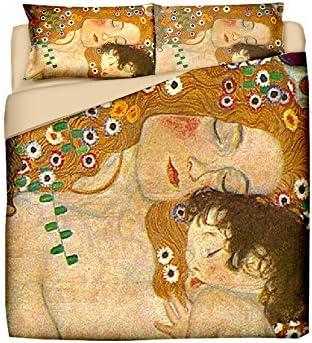 Tele D'autore Juego De Funda Nórdica Klimt La Madre Oro