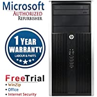 HP CR16VFHPDT0129 6200 Business High Performance Tower Desktop, Intel Core i3 2100 3.1G, 4G DDR3, 250G HDD, DVDRW, Windows 10 Professional, black