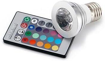 4W E27 RGB LED Lamp 85-265V LED RGB Bulb Spotlight LED Light High Power