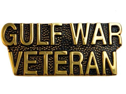 Iraq War Pin (Gulf War Veteran Script 1 inch hat or lapel pin D10)