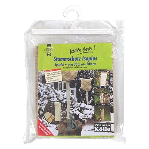Kölle's Beste Winterschutz Stammschutz Isoplus Spezial, ca. 100 cm hochx30 cm breit - aus hochwertigem Vlies - mit Isolierfolie und Klettverschluss - mehrere Winter verwendbar Kölle' s Beste