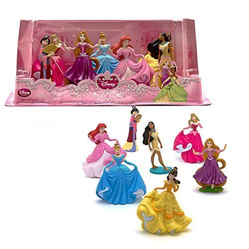 Official Disney Princess 7 Figurine Playset by -