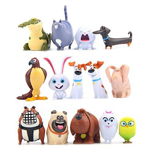 [14pcs/lot Cartoon Pets Mini Figures Lovely Model Animal Toys For Kids] (Bratz Jade Kids Costumes)