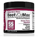 BeetVO2Max - Max Nitric Oxide Booster | Super Concentrated Organic Beetroot Juice Powder W/ Amino Acids & Vitamin B12 | Hyper Endurance Formula