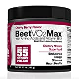 BeetVO2Max - Max Nitric Oxide Booster | Super Concentrated Organic Beetroot Juice Powder W/ Amino Acids & Vitamin B12 | Hyper Endurance Formula