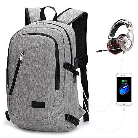 29e5d428877afa AM SeaBlue Unisex Zaino Da Viaggio, Multiuso Antifurto Lato Zaino Porta USB  Per Uomo,