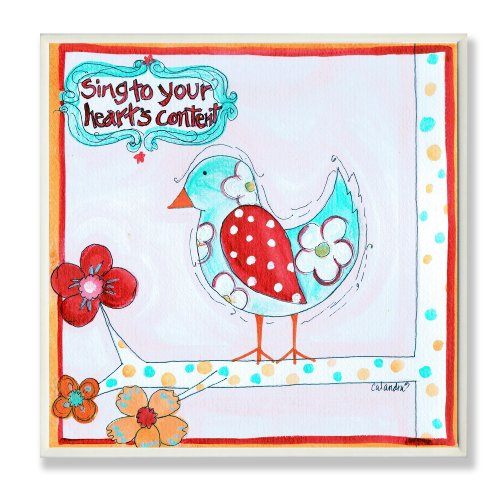 pell Sing to Your Heart's Content Square Wall Plaque (Sing Plaque)