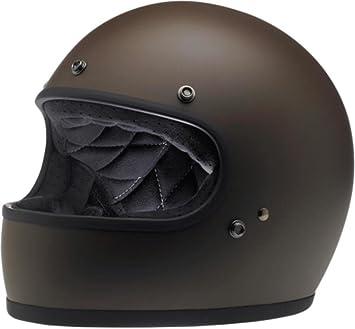 Biltwell - Casco de moto integral liso Gringo, estilo unisex para adulto con la certificación