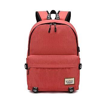 Xiuy Moda Grandes Mochilas Resistente Mochilas Tipo Casual Multibolsillos Mochilas Escolares Simple Color sólido Backpack Viajes Mochila Ordenador Bolsa ...
