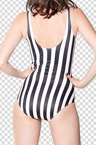 La Mujer Traje De Baño De Una Pieza Monokini Rayas Bikini Push Up White