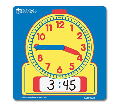 Learning Resources Write and Wipe Student Clocks, Set of 10 (Clock Hands Teaching)