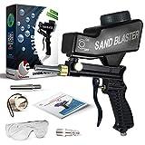 Sandblaster portátil velocidad Blaster, chorro de arena boquilla pistola, alimentación por gravedad Pistola de granallado, velocidad Blaster con punta extra (Negro)