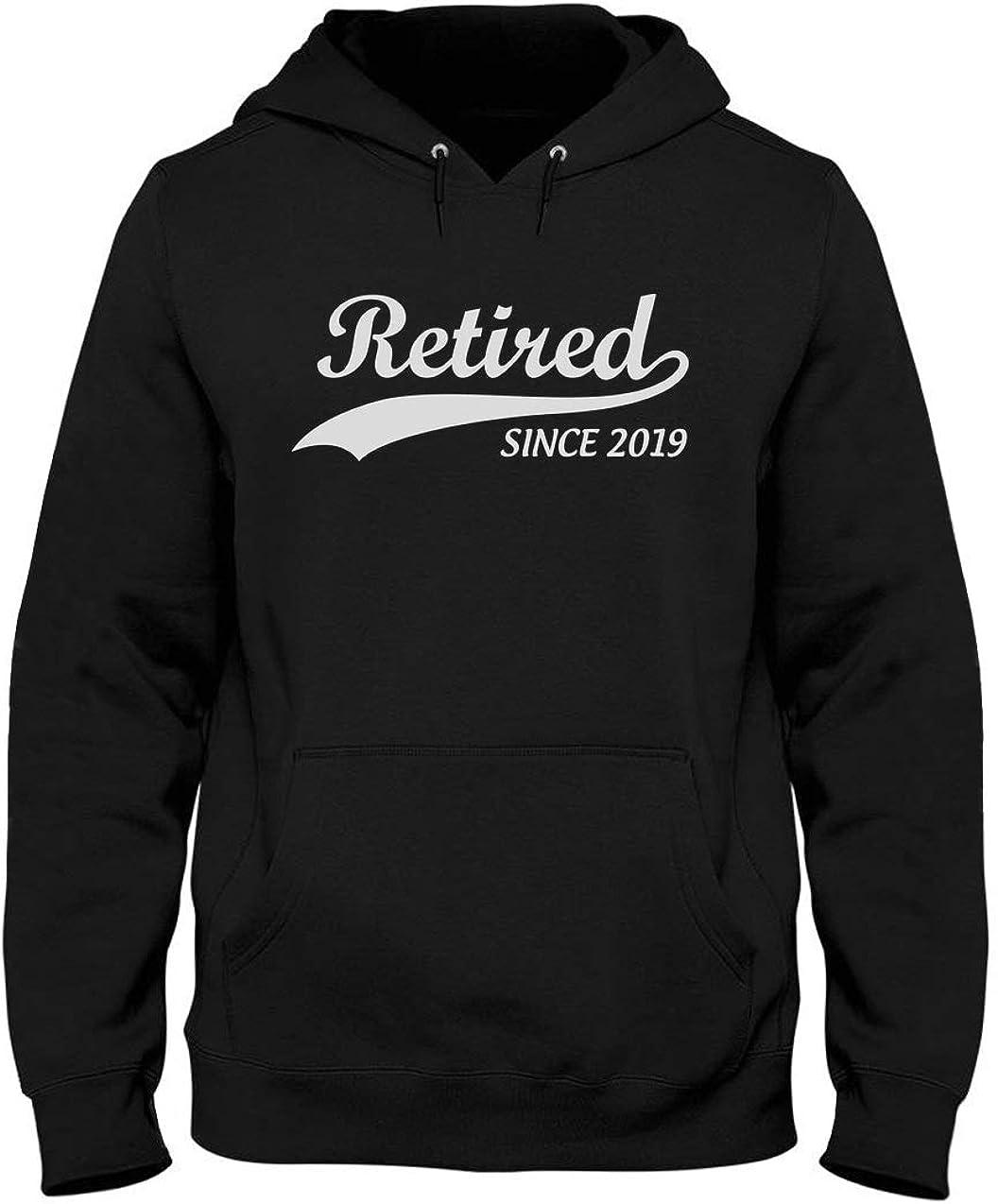 Green Turtle T-Shirts Sudadera con Capucha para Hombre - Retired Since 2019 - Regalo para Jubilados 2019