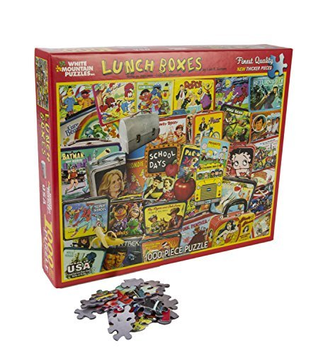 White Mountain Puzzles - Classic Lunch Boxes - 1,000 Piece Jigsaw Puzzle
