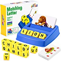 LET'S GO! Matching Letter Game for Kids Letter Spelling and Reading Game Xmas Gifts Educational Toys