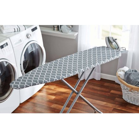 Mainstays Deluxe Iron Board Cover and Pad, Fits ironing boards 15'' x 54'' Thick fiber pad 100 percent cotton cover by Mainstay
