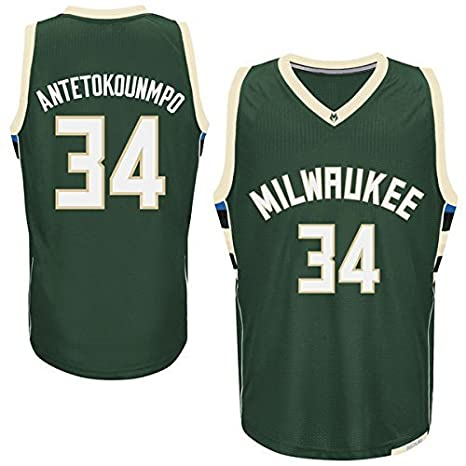 Mens Giannis Antetokounmpo #34 Milwaukee Bucks Green Jersey M by Basketball Jerseys: Amazon.es: Deportes y aire libre