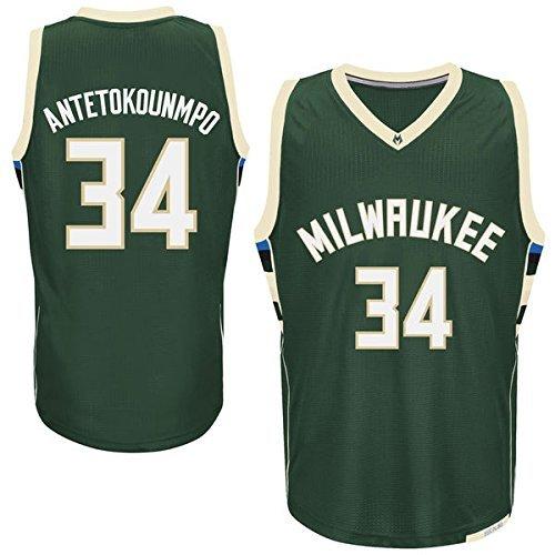 Mens Giannis Antetokounmpo #34 Milwaukee Bucks Green Jersey XL