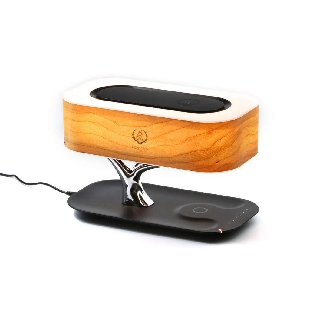 Finedayqi ❤ Bedside Lamp with Bluetooth Speaker Wireless Charger Stepless Dimming