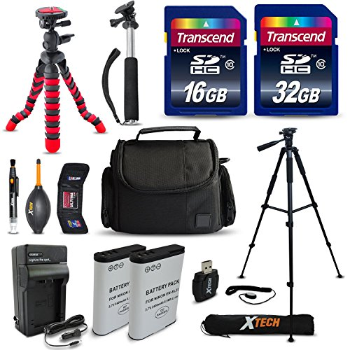 Mega Pro ACCESSORIES Kit for Nikon Coolpix P900 P610 P600 S810c Digital Cameras Includes: 32GB High Speed Memory