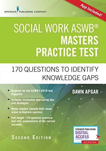 Social Work ASWB Masters Practice Test, Second Edition: 170 Questions to Identify Knowledge Gaps