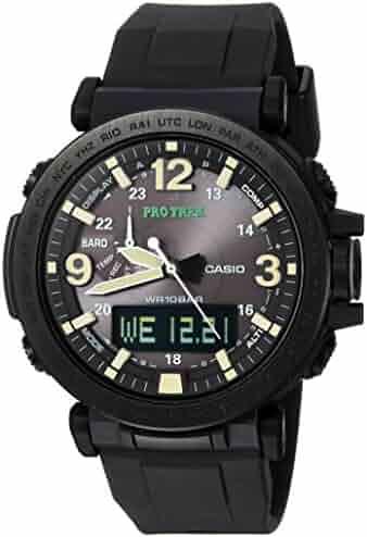 Casio Men's Pro Trek Quartz Watch with Silicone Strap, Black, 30.5 (Model: PRG-600Y-1CR)