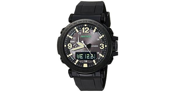 Casio Mens PRO TREK Quartz Resin and Silicone Casual Watch ...