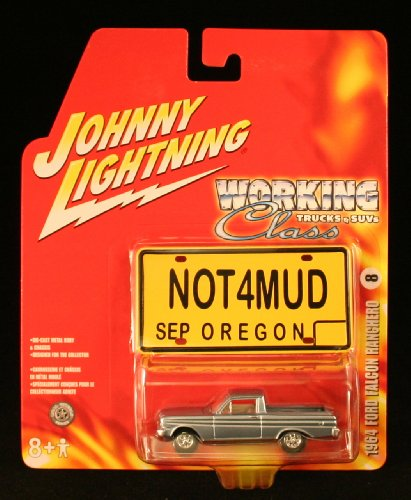 1964 FORD FALCON RANCHERO * WORKING CLASS TRUCKS & SUVs * 2005 Johnny Lightning Die-Cast Vehicle & Bonus Mini Classic License Plate (1964 Ford Pickup)