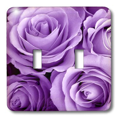 3dRose lsp_27564_2 Soft lilac purple poses bouquet Toggle Switch, - Switchplate Bouquet