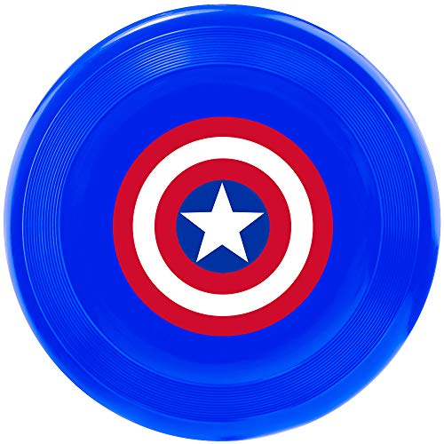 Dog Captain America (Buckle Down Dog Toy Frisbee Flyer Captain America Shield Blue Red)