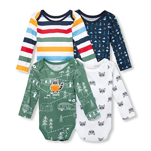 (The Children's Place Baby Boys Racoon Long Sleeve Layette Set, Relish, 0-3MONTHS)
