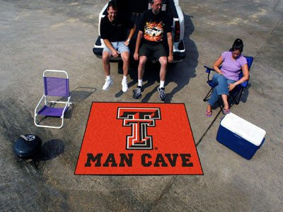 Tech Red Raiders Tailgater Mat (Texas Tech Man Cave Tailgater Rug 5x6 - Licensed Texas Tech Red Raiders Gifts)