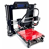 REPRAPGURU DIY RepRap Prusa I3 V2 Black 3D Printer Kit With Molded Plastic Parts USA Company