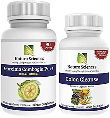 Colon Care and Garcinia Cambogia By Naturo Sciences, All Natural Combo Set