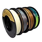 PLA 1.75mm 4x250g Gold/Silver/Glow in Dark/Temperature Change - Filament Set for 3D Printer - FrontierFila