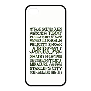 the Case Shop- the Green Arrow TV Show Super Hero TPU Rubber Hard Back Case Silicone Cover Skin for iPhone 4 and iPhone 4S , i4xq-825