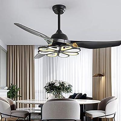 Luz ventilador de techo de 52 pulgadas/132 cm para dormitorio ...