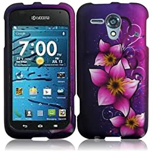 HR Wireless Kyocera Hydro Edge Rubberized Design Protective Cover - Retail Packaging - Mystical Flower