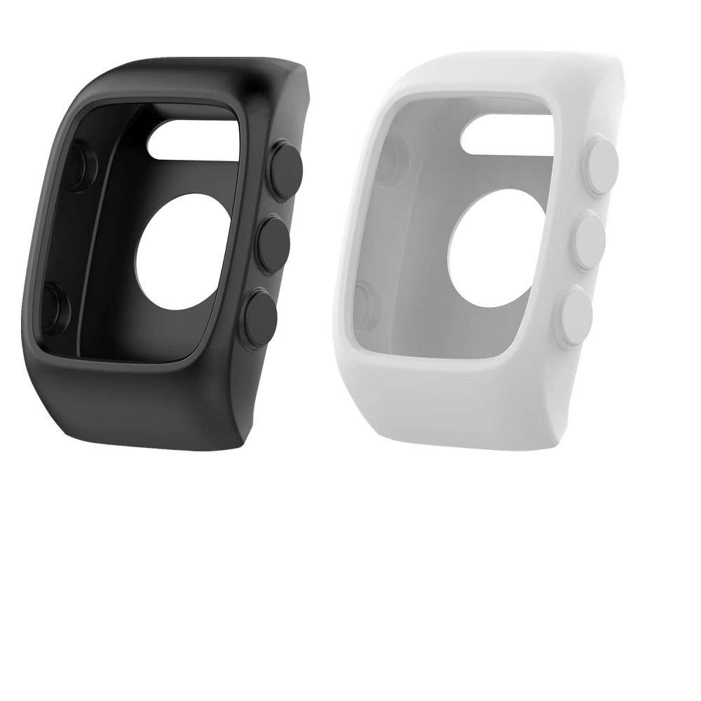 2PCS VANLUCKY reloj reemplazo banda cubierta protectora manga Para Polar M400 / M430