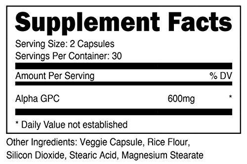 Nutricost Alpha GPC 300mg Non GMO and Gluten Free 600mg per Serving