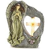 BESTChoiceForYou Garden Angel Solar Statue Religious Sculptures Outdoor Garden Light