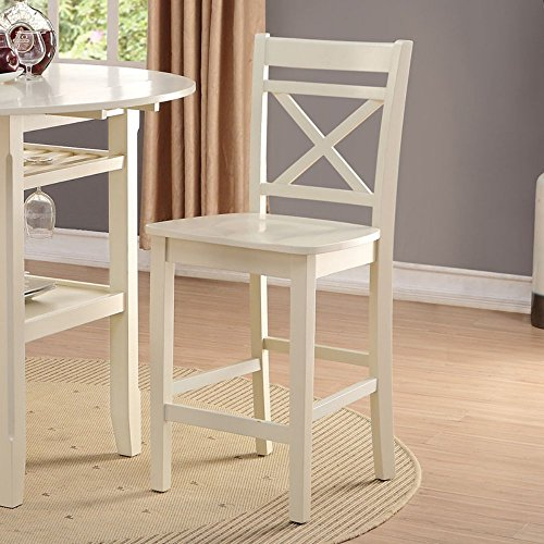 Acme Furniture 72547 Tartys Counter Height Chair Set of 2 , Cream