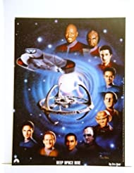 Star Trek Deep Space Nine DS9 Cast 12 x 16 Inches Lithograph/Poster