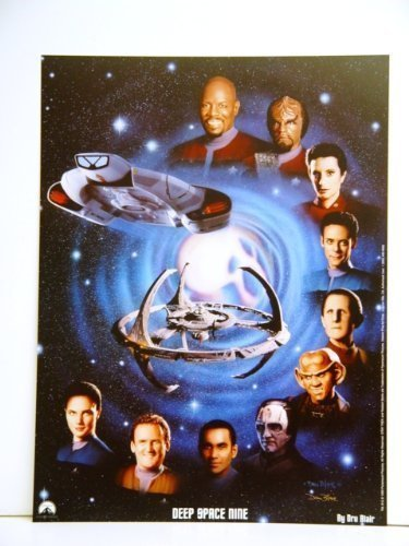 Star Trek Deep Space Nine DS9 Cast 12 x 16 Inches Lithograph / Poster from Star Trek