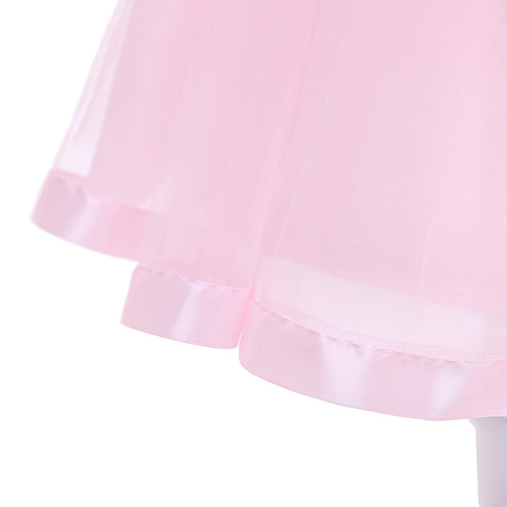 Flower Princess Weeding Birthday Party Sundress 24M-7Y Girls Embroidery Bridesmaid Puffy Tutu Dress Transer