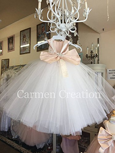 Mini Bride Flower Girl Dress Blush/Ivory NB by Carmen Creation