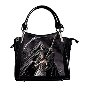 'Summon The Reaper'ANNE STOKES 3D Large Hand Bag Black PVC Goth Skeleton