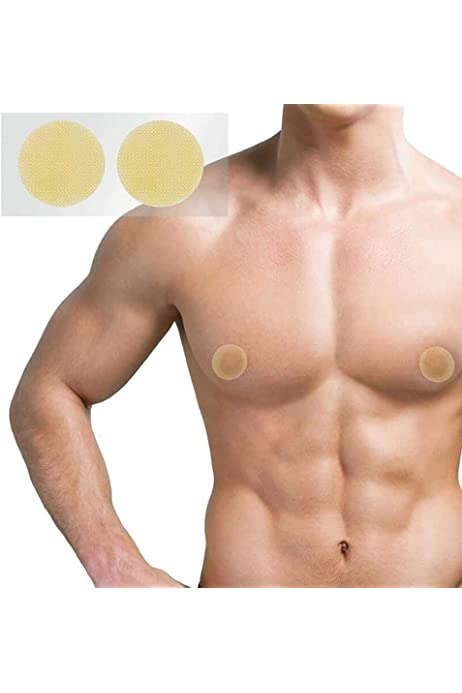 Hnmedia 30 Pairs Mens Disposable Nipple Covers Areola Cover Stickers Guard Nipple Tape Prevent Nipple Chafing Sticker Patch for Male Sports Marathon Running